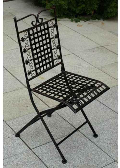 Kovová židle, černá