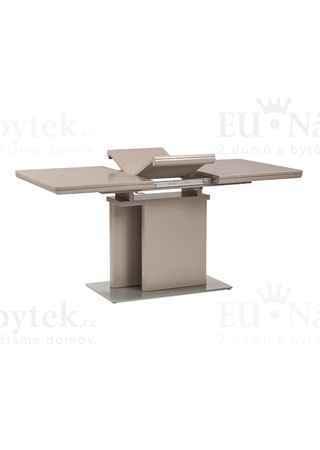 Jídelní stůl rozkládací 120+40x80, vysoký lesk lanýžový
