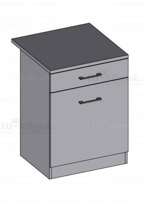 Kuchyňská skříňka DIAMOND, spodní 60 cm - červená