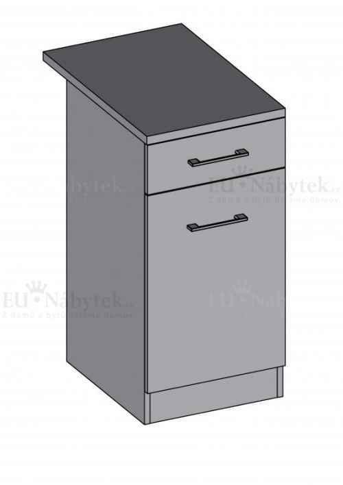 Kuchyňská skříňka DIAMOND, spodní 40 cm - červená