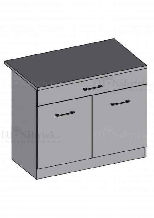 Kuchyňská skříňka DIAMOND, spodní dvoudvéřová 60 cm - červená