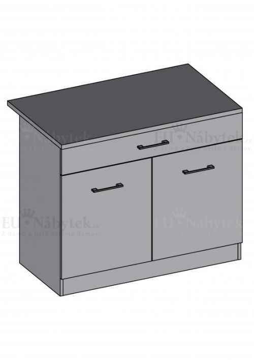 Kuchyňská skříňka DIAMOND, spodní dvoudvéřová 80 cm - červená