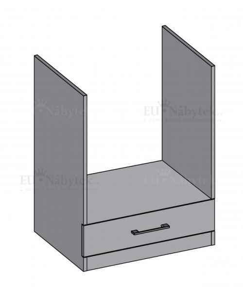 Kuchyňská skříňka DIAMOND, spodní na troubu 60 cm, červená - červená