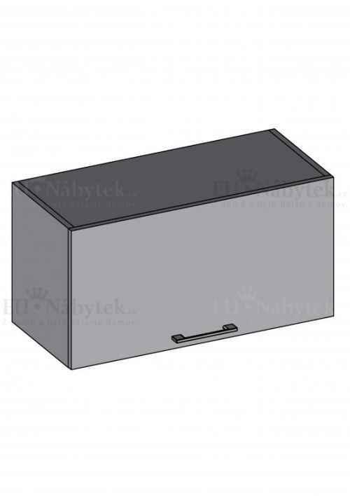Kuchyňská skříňka DIAMOND, horní na digestoř 60 cm, červená - červená