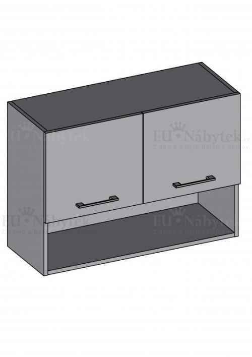 Kuchyňská skříňka DIAMOND, horní skříňka s policí 100 cm, červená - červená