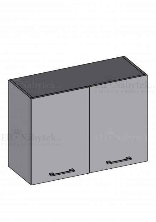 Kuchyňská skříňka DIAMOND, horní skříňka dvoudvéřová 80 cm, červená - červená