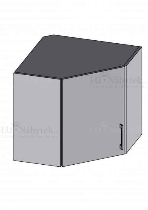 Kuchyňská skříňka DIAMOND, horní skříňka rohová - červená