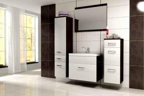 Koupelnová sestava EVO wenge / bílá lesk