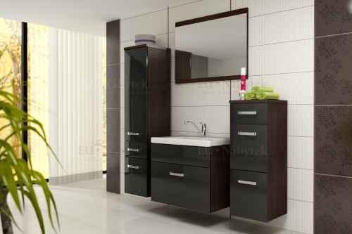 Koupelnová sestava EVO wenge / černá lesk