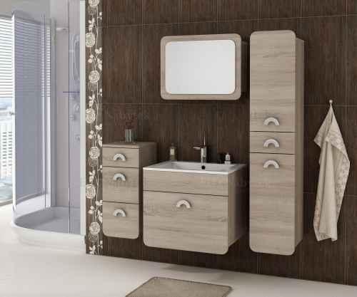 Koupelnová sestava RONDO dub sonoma trufel