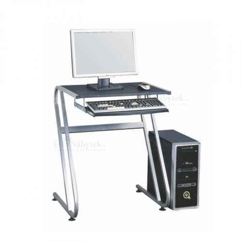Kancelářský stůl, černá + stříbrná, Jofry