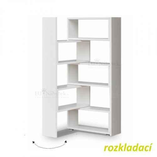 Regál, bílá, DTD laminovaná, KLOE II