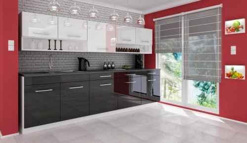 Kuchyňská linka DIAMOND 260 černo-bílá