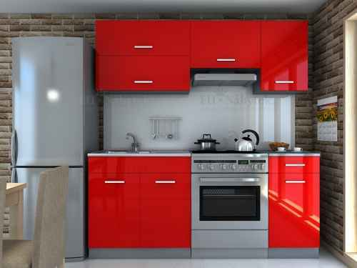 Kuchyňská linka DIAMOND 180 červená