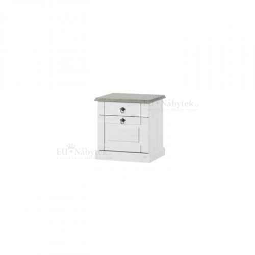Noční stolek, bílá, LIONA LM 21