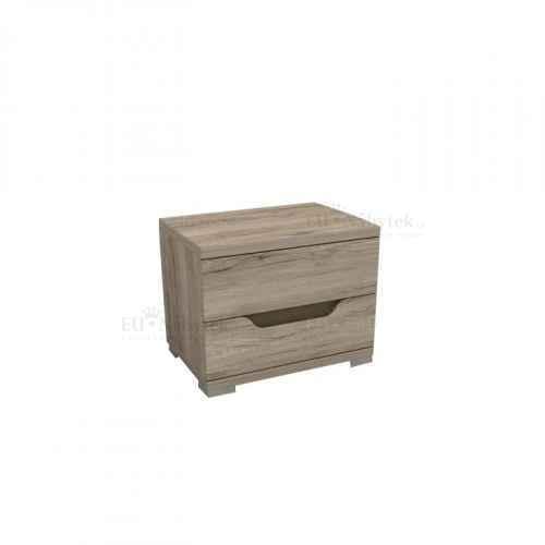 Noční stolek, dub sonoma tmavý, BETIBO DA 22