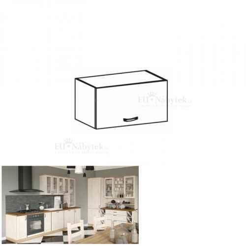 Horní skříňka, bílá / sosna skandinávská, ROYAL G60KN