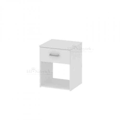Noční stolek, bílá, GARBO