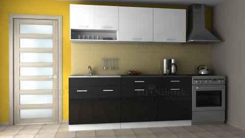 Kuchyňská linka DIAMOND 200/260 bílo-černá