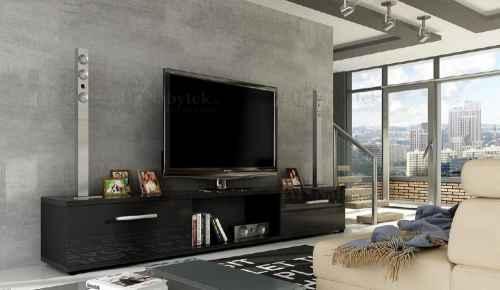 TV stolek FENIX černý lesk