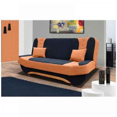 Pohovka EMA II černá / oranžová