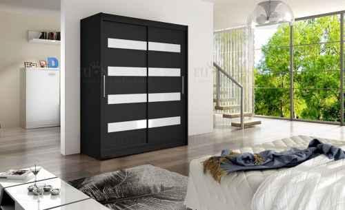 Šatní skříň JASPER černá