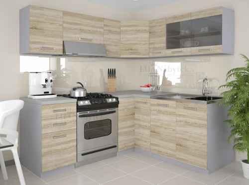 Kuchyňská linka rohová LEON 360 dub sonoma