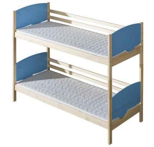Dětská postel TRIO poschoďová - dol moření bílá