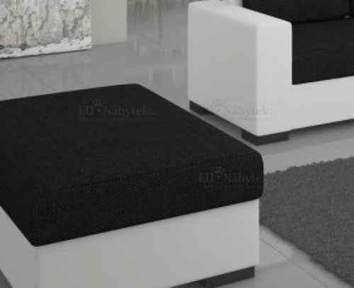Taburet CAMARO bílá / černá