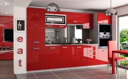Kuchyňská linka TIFFANY 300 červená lesk