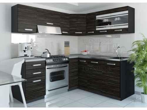 Kuchyňská linka rohová LEON 360 královský eben