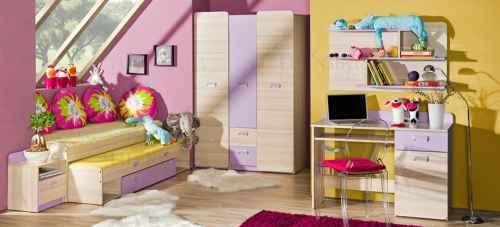 Dětský pokoj LORENZO I - jasan-fialová