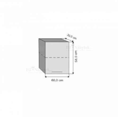 W60 / 58 h. skříňka jednodvéřová LEON dub sonoma