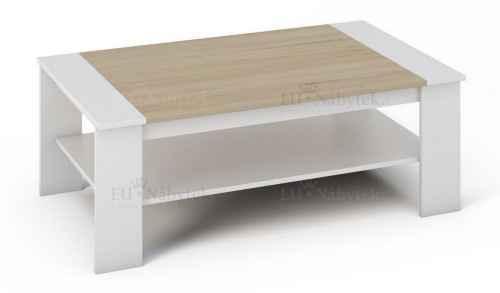 Konferenční stolek BERN bílá/sonoma