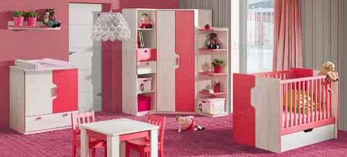 Dětský pokoj MAKI I - dol-borovice-nor-červená