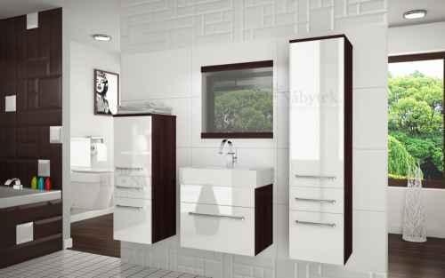 Koupelnová sestava RIOR PRO+ kaštan / bílý lesk