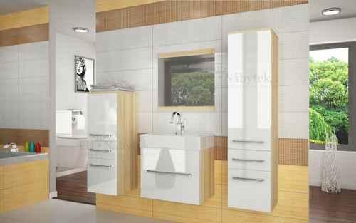 Koupelnová sestava RIOR PRO+ akát / bílý lesk