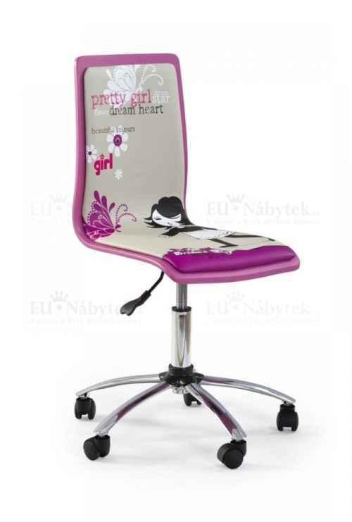 Kancelářská židle FUN-1 růžová