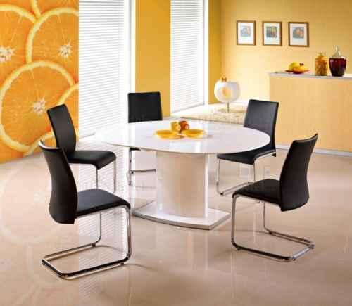 Jídelní stůl FREDERICO rozkládací bílá, PRESTIGE LINE