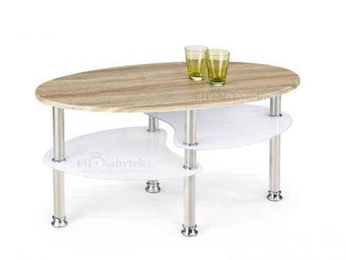 Konferenční stolek MEDEA dub sonoma / bílá