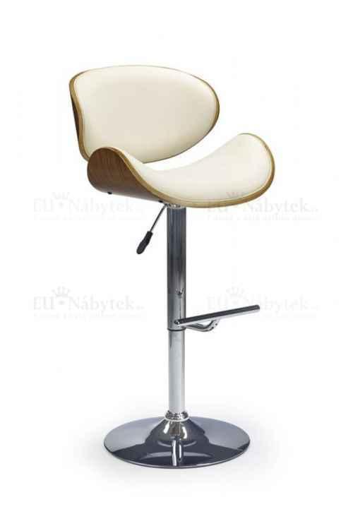 Barová židle Hoker H-44 ořech / krémová