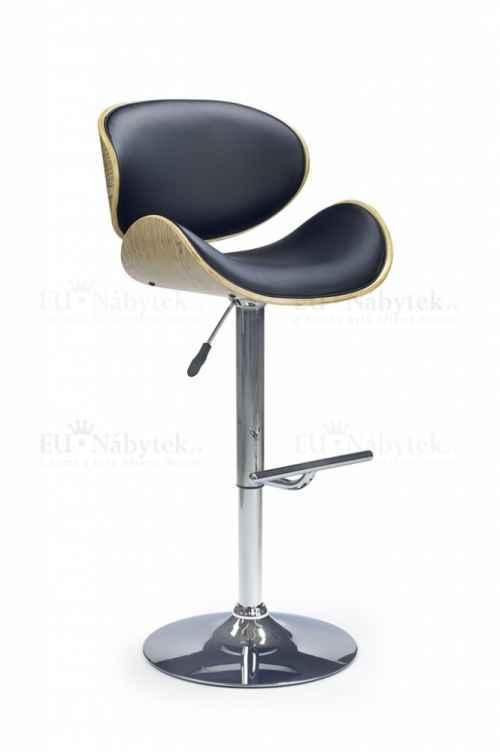 Barová židle Hoker H-44 svtělý dub / černá