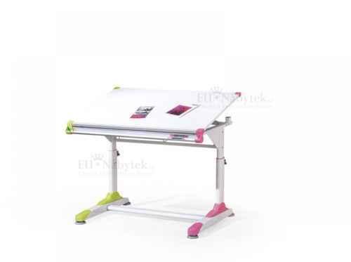 Dětský psací stůl COLLORIDO bílá / růžová / zelená