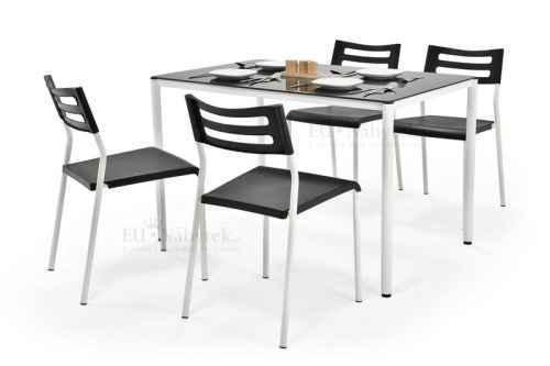 Jídelní set FIGARO 1+4 černá
