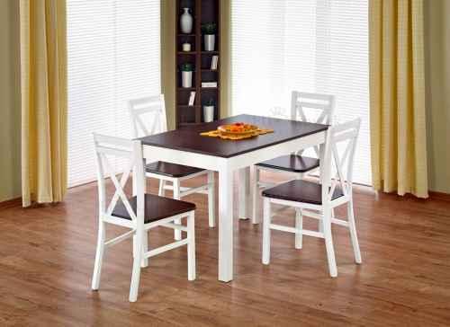 Jídelní stůl MAURYCY rozkládací tmavý ořech / bílá