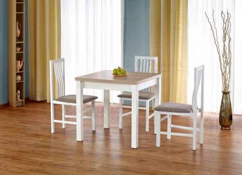Rozkládací jídelní stůl GRACJAN dub sonoma / bílá