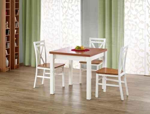 Rozkládací jídelní stůl GRACJAN olše / bílá