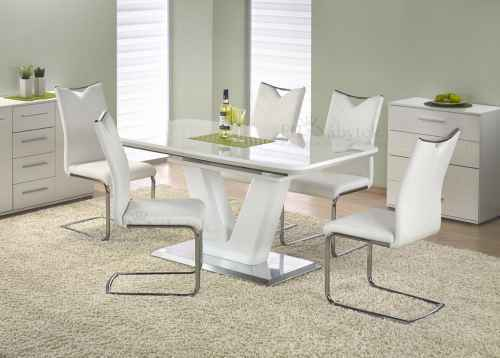 Jídelní stůl MISTRAL rozkládací bílá lesk