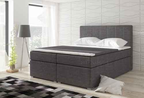 Kontinentální postel Boxspring LUCIE tmavě šedá 180x200cm