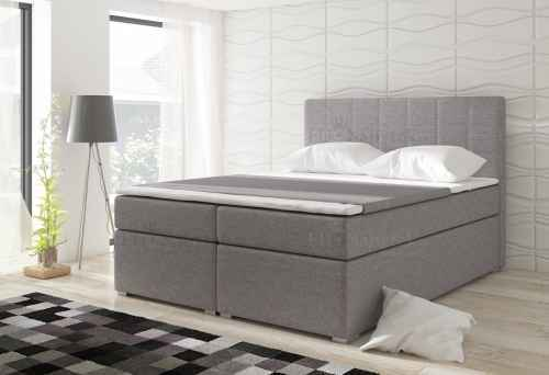 Kontinentální postel Boxspring LUCIE šedá 180x200cm